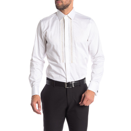 Bill Slim-Fit Dress Shirt // White (S)