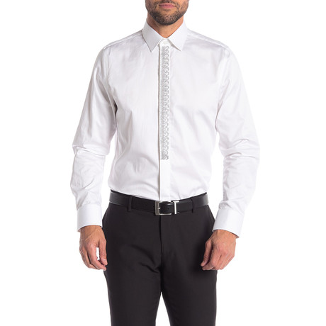 Adrian Slim-Fit Dress Shirt // White (S)
