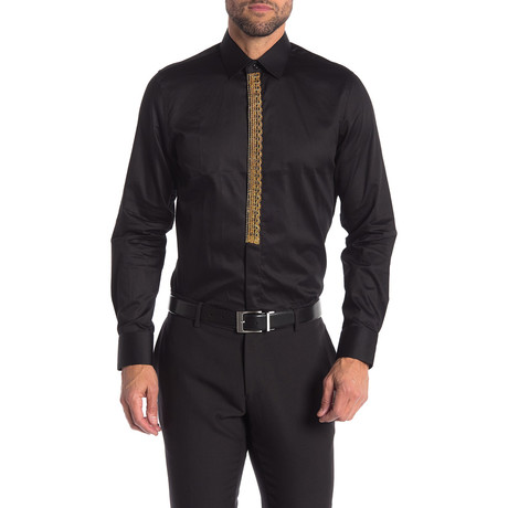 Adrian Slim-Fit Dress Shirt // Black (S)