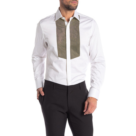 Travis Slim-Fit Dress Shirt // White (S)