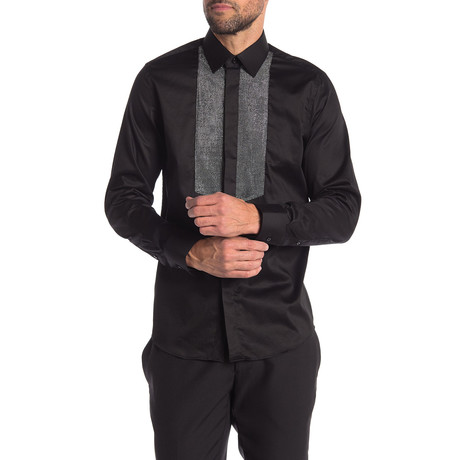 Travis Slim-Fit Dress Shirt // Black (S)
