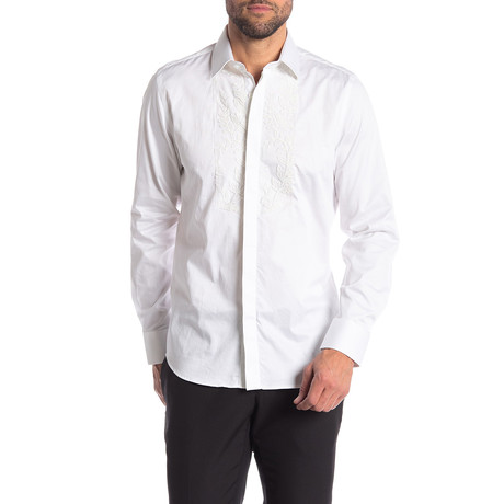 Cedric Slim-Fit Dress Shirt // White (S)