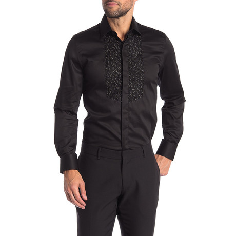 Leigh Slim-Fit Dress Shirt // Black (S)