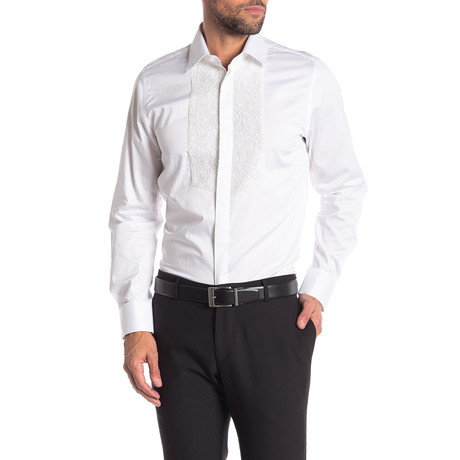 Bruno Slim-Fit Dress Shirt // White (S)