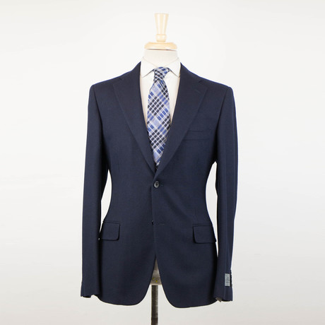 Belvest // Wool 2 Button Sport Coat // Oxford Blue (US: 48R)