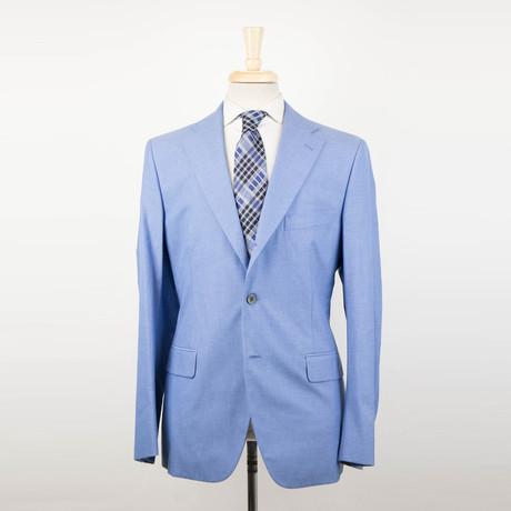 Belvest // Cotton 3/2 Button Sport Coat // Blue (Euro: 52R)