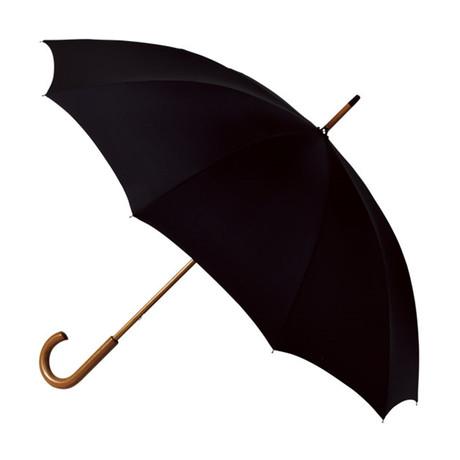 Falcone // Classic Walking Umbrella // Black
