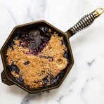 """Cast Iron Skillet With Lid + American Cherry Wood Trivet // 12"""""""