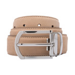 "Suede Belt // Tan (38"")"