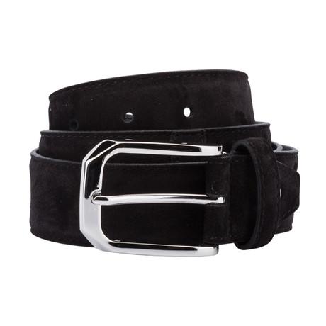 Classic Suede Belt // Black (Size 30)