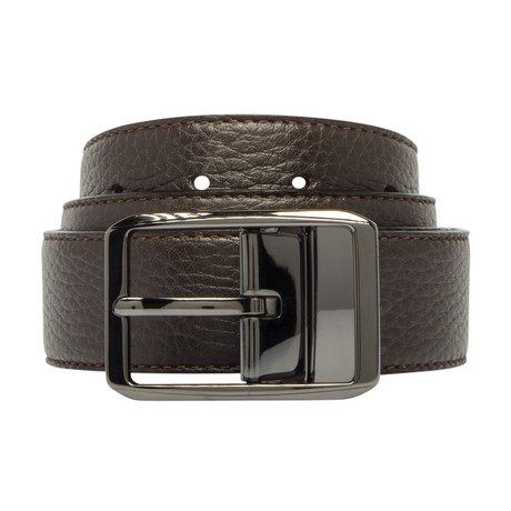 "Reversible Leather Belt // Testa Di Moro (30"")"