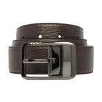 "Reversible Leather Belt // Testa Di Moro (34"")"