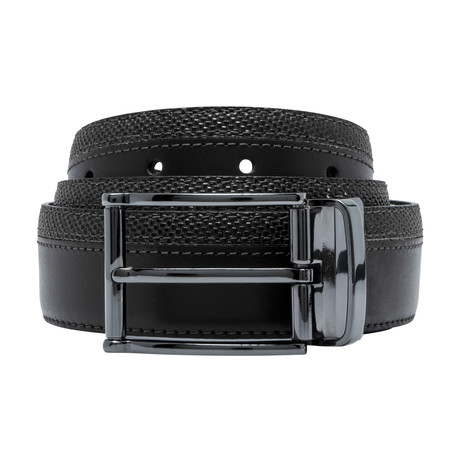 Smooth Leather Belt // Black (Size 30)