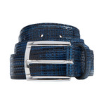 "Basket Weave Pattern Belt // Navy (40"")"