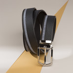 Leather and Suede Belt // Black (Size 30)