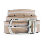 Smooth Leather Belt // Ecru (Size 30)