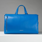 Pebble Leather Full Grain Weekender // Blue