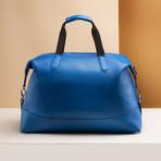 Pebble Leather Full Weekender // Royal