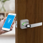 Ultraloq Fingerprint + Key Fob Smart Lock // Satin Nickel (Smart Lock Only)