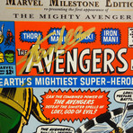 Avengers #1 Milestone Edition // Stan Lee Signed Comic // Custom Frame (Signed Comic Book Only)
