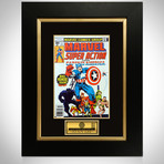 Captain America #1 Marvel Super Action // Stan Lee Signed Comic // Custom Frame (Signed Comic Book Only)