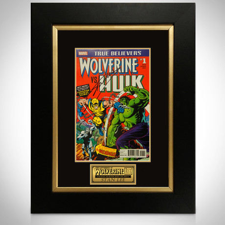 Wolverine Vs Hulk #1 // Stan Lee Signed Comic // Custom Frame (Signed Comic Book Only)