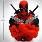 Deadpool // Signed Stan Lee // Bust Bank Limited Edition Statue