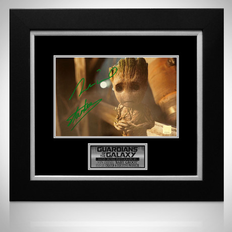 Baby Groot // Vin Diesel + Stan Lee Signed Photo // Custom Frame