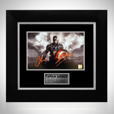 Captain America // Chris Evans + Stan Lee // Custom Frame
