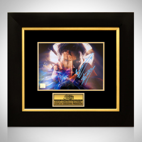 Doctor Strange // Benedict Cumberbatch + Stan Lee Signed Photo // Custom Frame