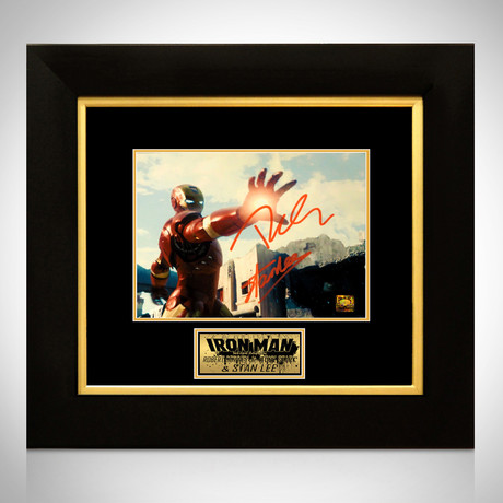 Iron Man // Robert Downey Jr. + Stan Lee Signed Photo // Custom Frame