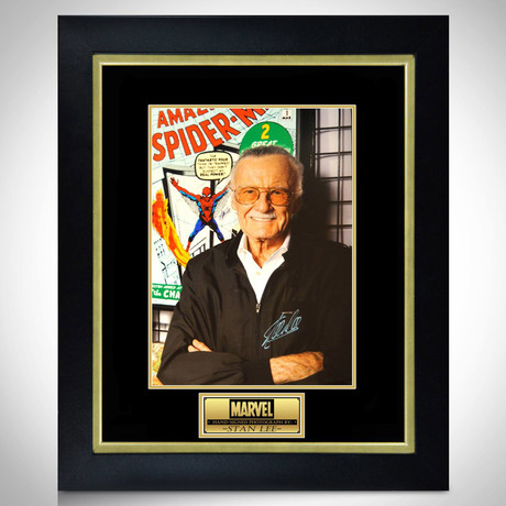 Stan Lee Spider-Man // Stan Lee Signed Photo // Custom Frame