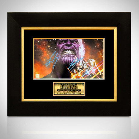 Thanos // Josh Brolin + Stan Lee Signed Photo// Custom Frame