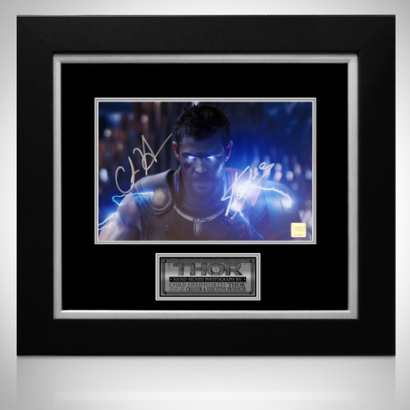 Thor // Chris Hemsworth + Stan Lee Signed Photo // Custom Frame