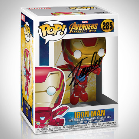 Infinity War Iron Man Funko Pop // Stan Lee Signed