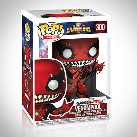Venompool Funko Pop // Stan Lee Signed
