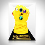 Infinity Gauntlet Prop // Stan Lee Signed // Custom Museum Display (Signed Gauntlet Only)
