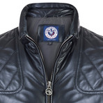 Pace Leather Jacket // Navy (L)