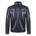 Pace Leather Jacket // Navy (M)