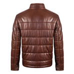 Wood Leather Jacket // Brown (3XL)
