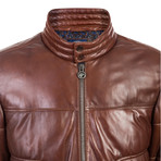 Wood Leather Jacket // Brown (2XL)