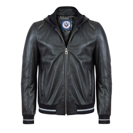 Seagoer Leather Jacket // Black (XL)