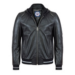Seagoer Leather Jacket // Black (XL)