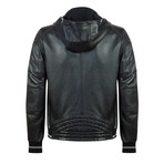 Seagoer Leather Jacket // Black (L)
