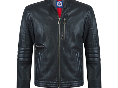 Photo of CLEARANCE: Outerwear We've Got You Covered Striker Leather Jacket // Black (XL) by Touch Of Modern