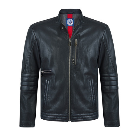Striker Leather Jacket // Black (S)