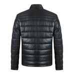 Tag Leather Jacket // Black (L)