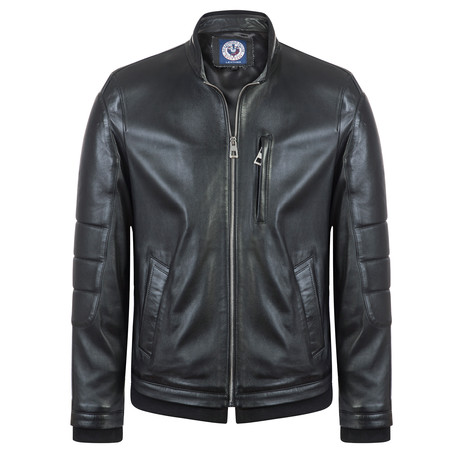 Shooter Leather Jacket // Black (S)
