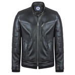 Shooter Leather Jacket // Black (M)