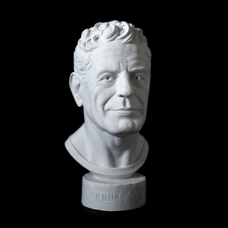 Anthony Bourdain Bust (Classic White)